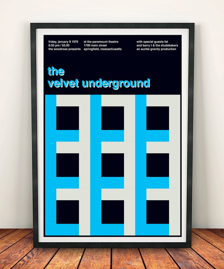The Velvet Underground 'At The Paramount Theatre 1970' Print