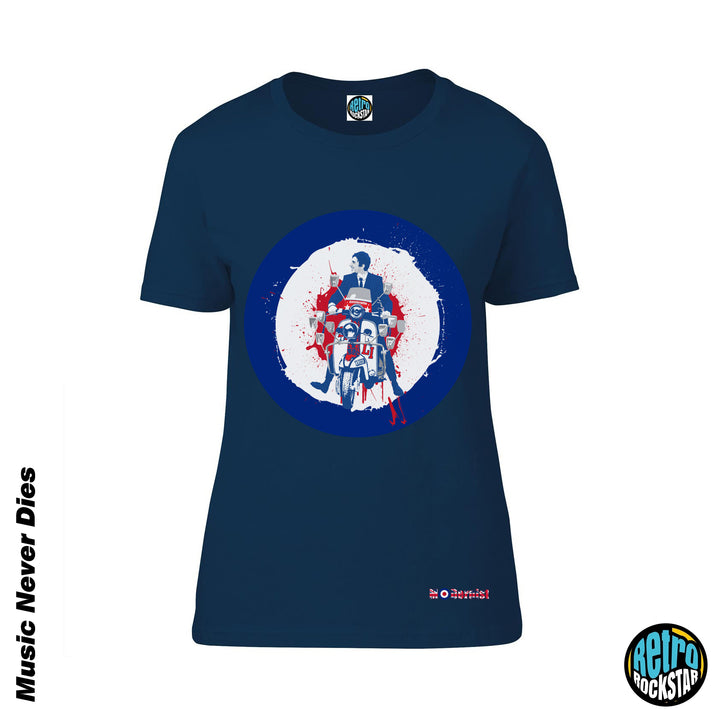 Quadrophenia 'Jimmy On His Bike' Ladies Fit Tshirt