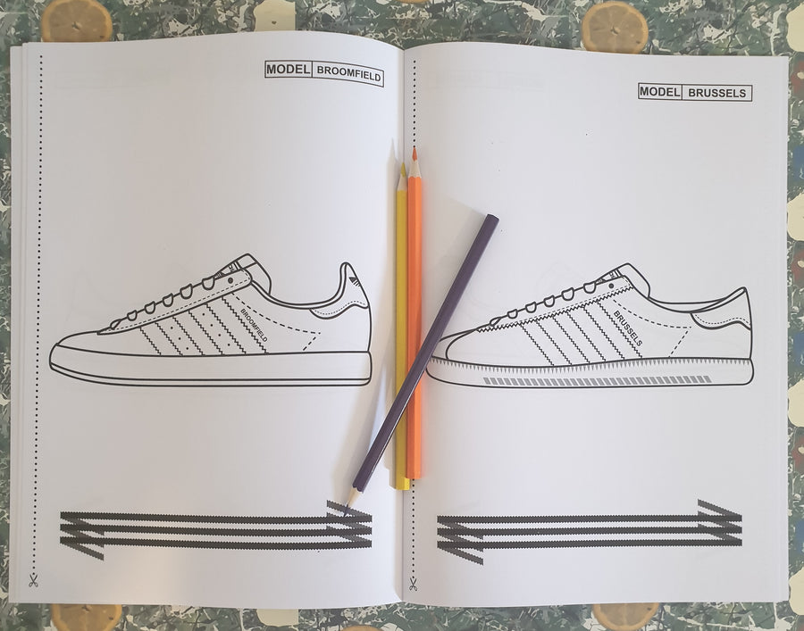 Manchester Music & Teenage Kicks Classic 3 Stripe Colouring Book Set
