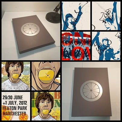 The Stone Roses 'Heaton Park' Xmas Gift Box 2 Prints, Tshirt and Coaster Set