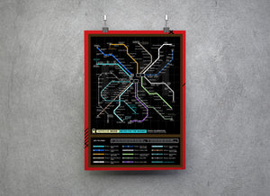Depeche Mode Music Metro Map