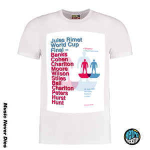 England 1966 World Cup Football Jules Rimet Tshirt