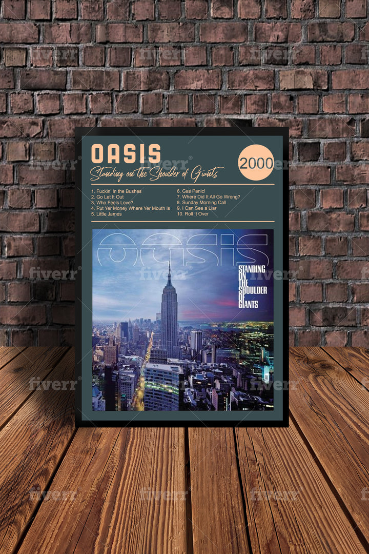 Oasis Standing On the Shoulder Of Giants 2000  Tribute Print