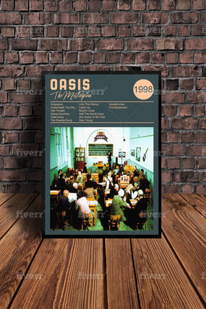 Oasis 'Masterplan  Tribute Print