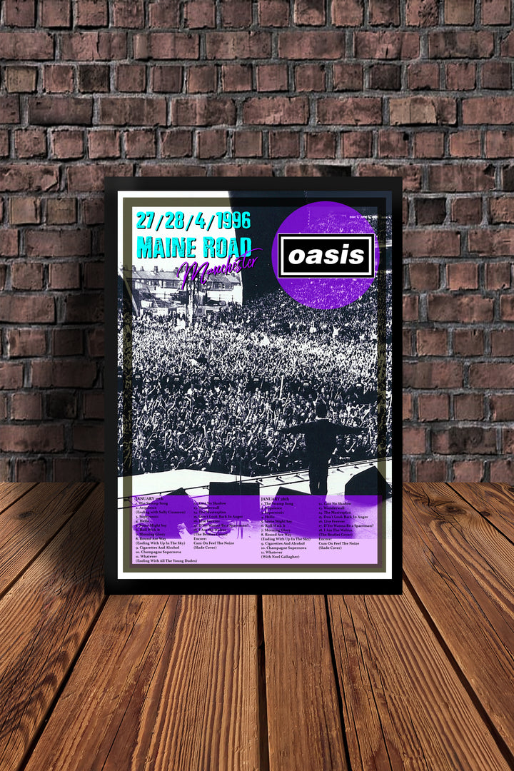 Oasis Maine Rd Legends Tribute print only 50 avalible