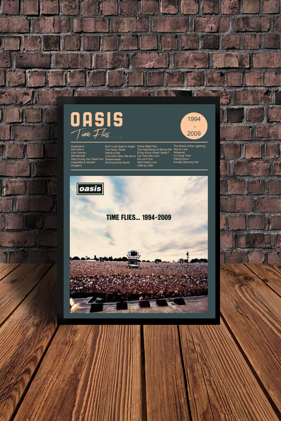 Oasis Time Flies 1994 -2009  Tribute Print