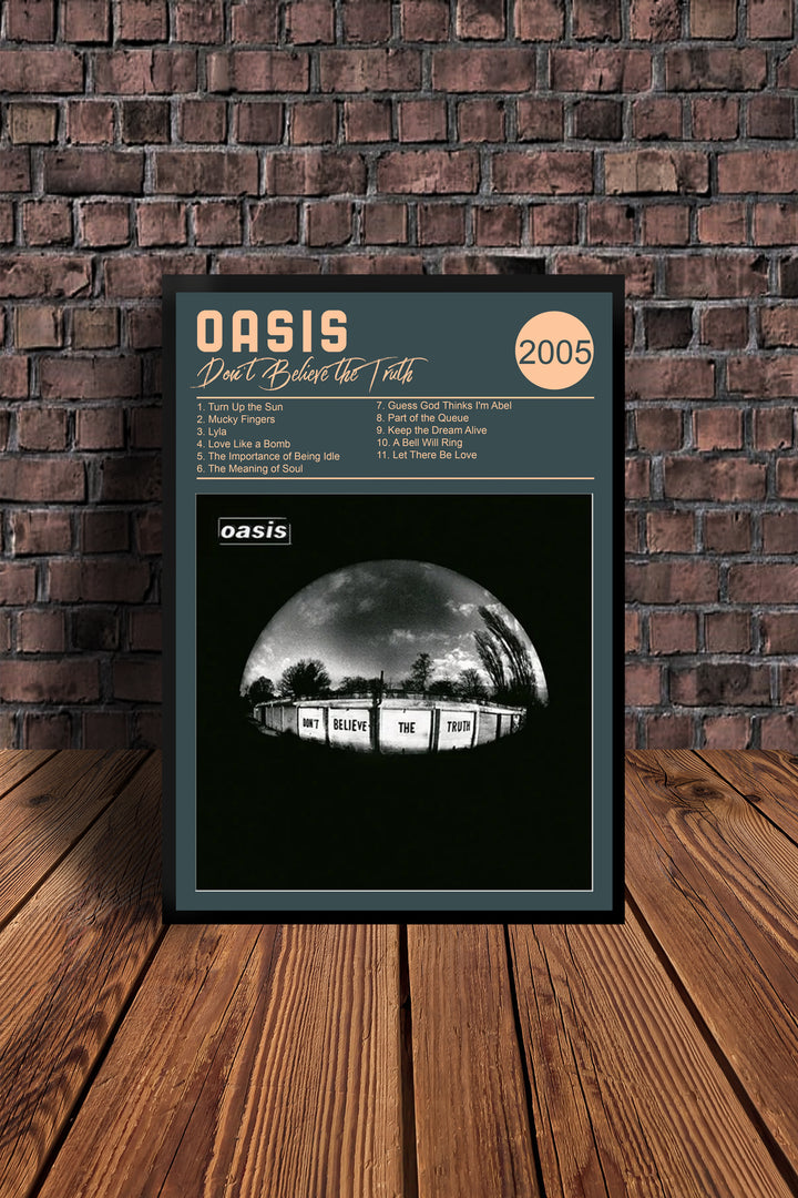 Oasis Dont Believe The Truth 2005 Tribute Print