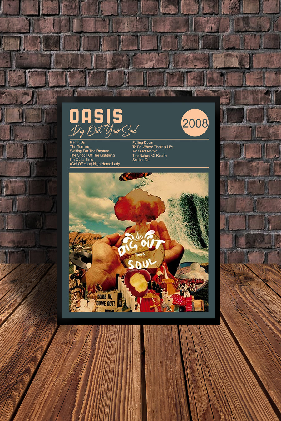 Oasis Dig Out Your Soul 2008  Tribute Print