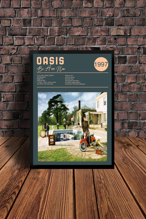 Oasis 'BE HERE NOW  Tribute Print