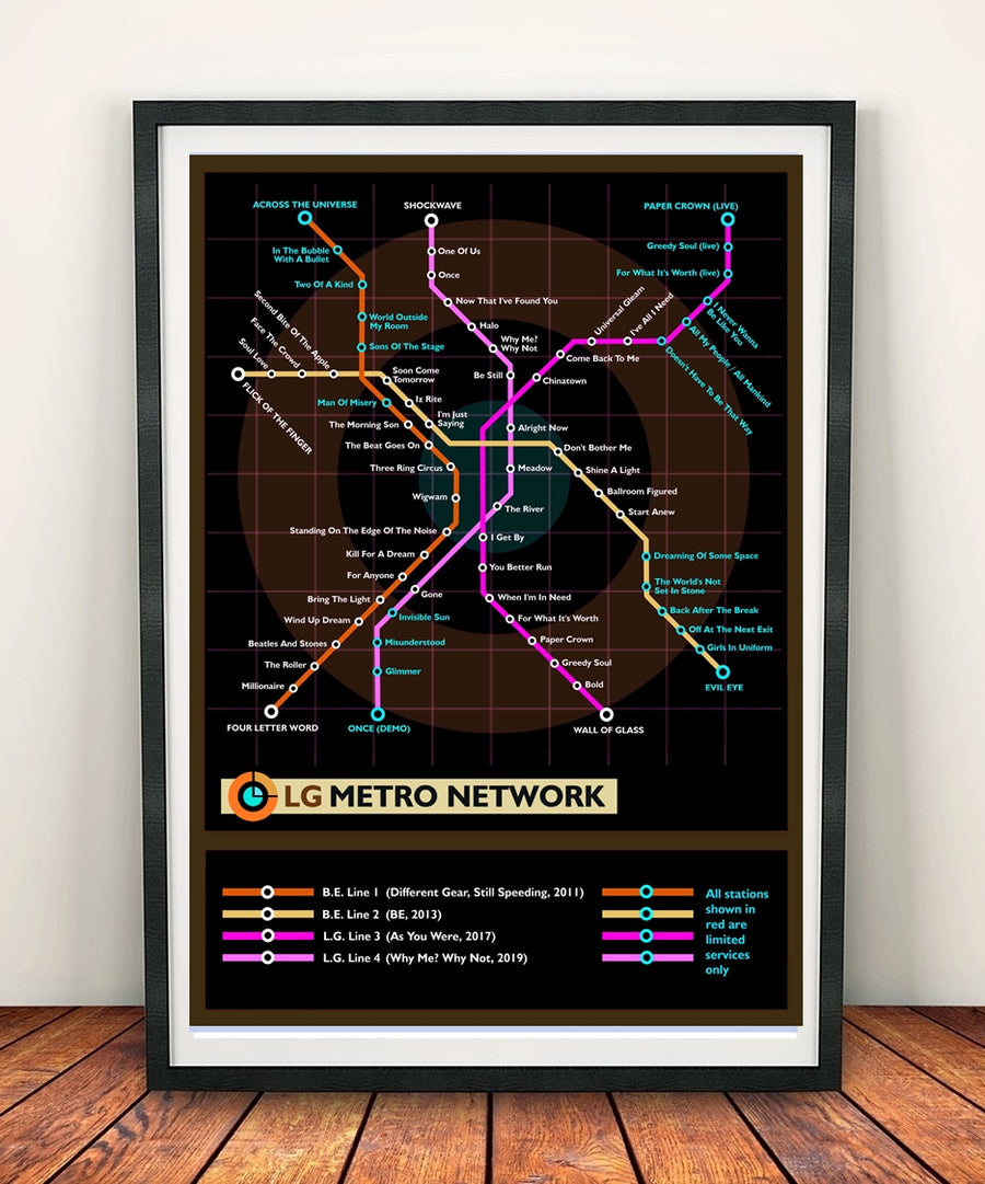 Liam Gallagher Music Metro Map
