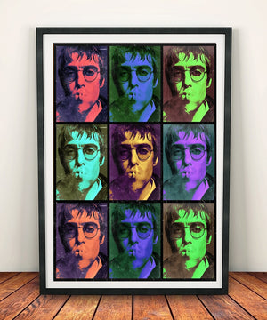 Liam Gallagher 'Multicoloured' Print