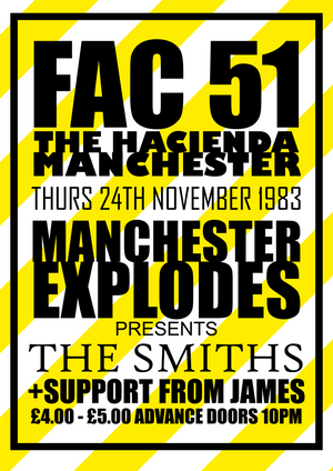 Hac Fac51 Smiths James  Gig Remixed Print