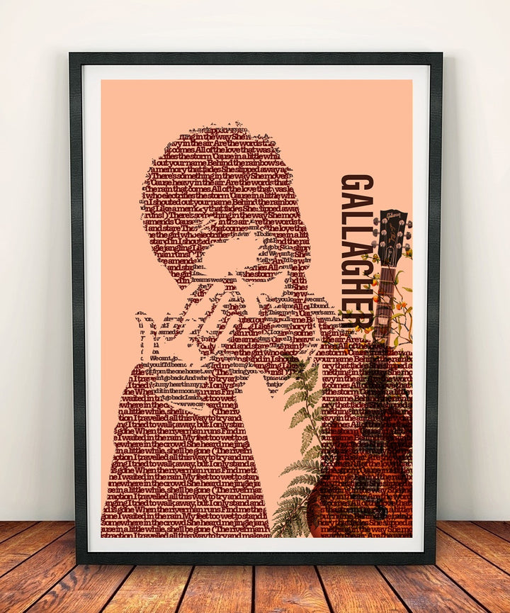 Noel Gallagher 'Typography' Print