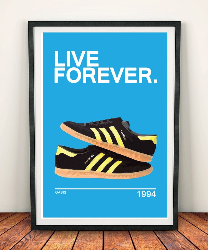 Oasis 'Live Forever' Print