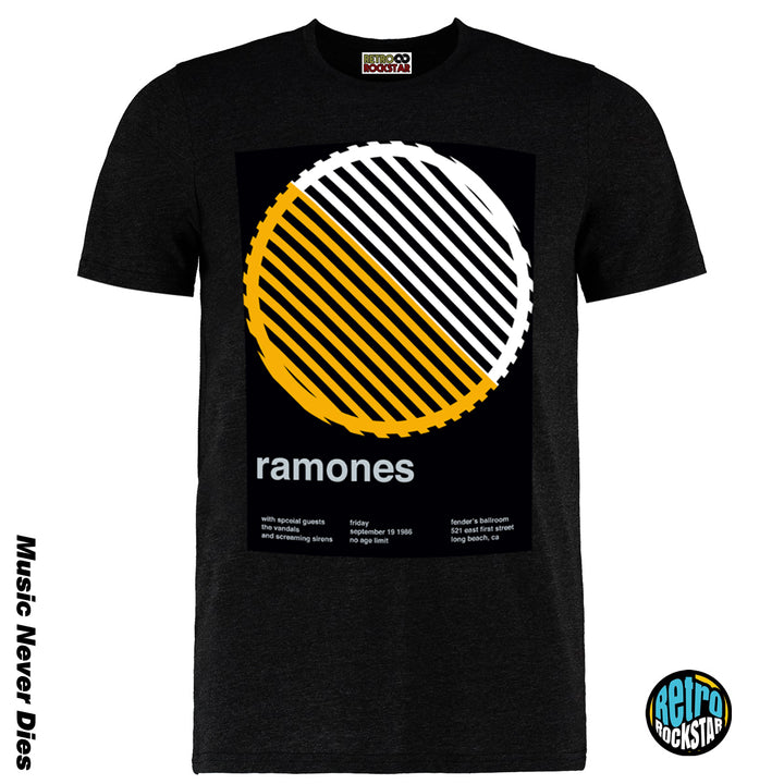 Ramones Remixed Gig Tshirt 1986 Long Beach