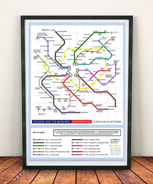 Siouxsie and the Banshees Music Metro Map