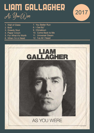 Liam Gallagher As You Were Album  Print
