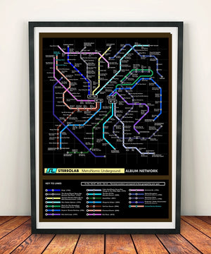Stereolab Music Metro Map
