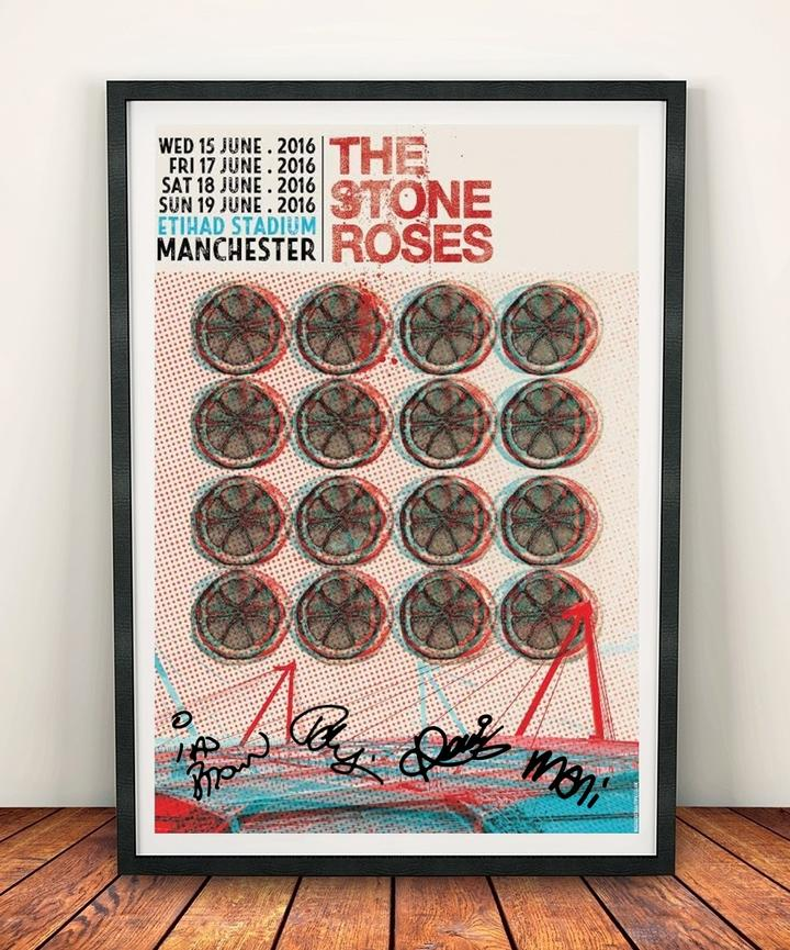 "Stone Roses Etihad Print Signed """"More added"