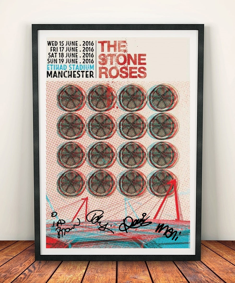 The Stone Roses Signed Etihad Stadium Commemorative Limited Edition Print