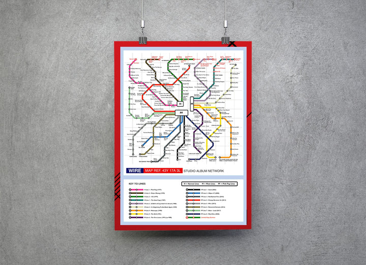 Wire Music Metro Map