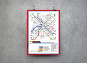 XTC Music Metro Map