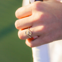 Classic Double Racquet Ring