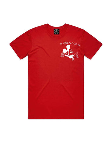 MAKING MOVES STREET TEE RED