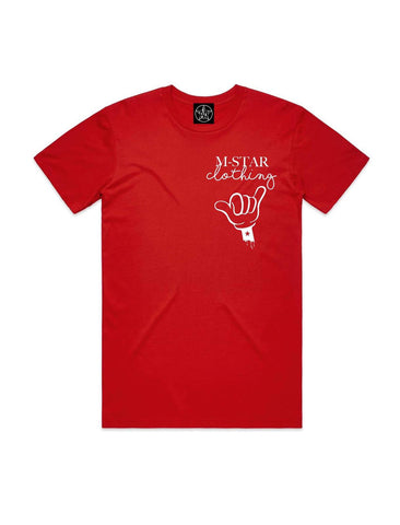 MSTAR SALUTE TEE RED