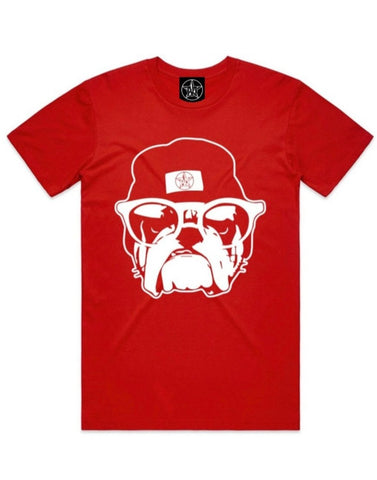 M-ST☆R BULLDOG TEE RED