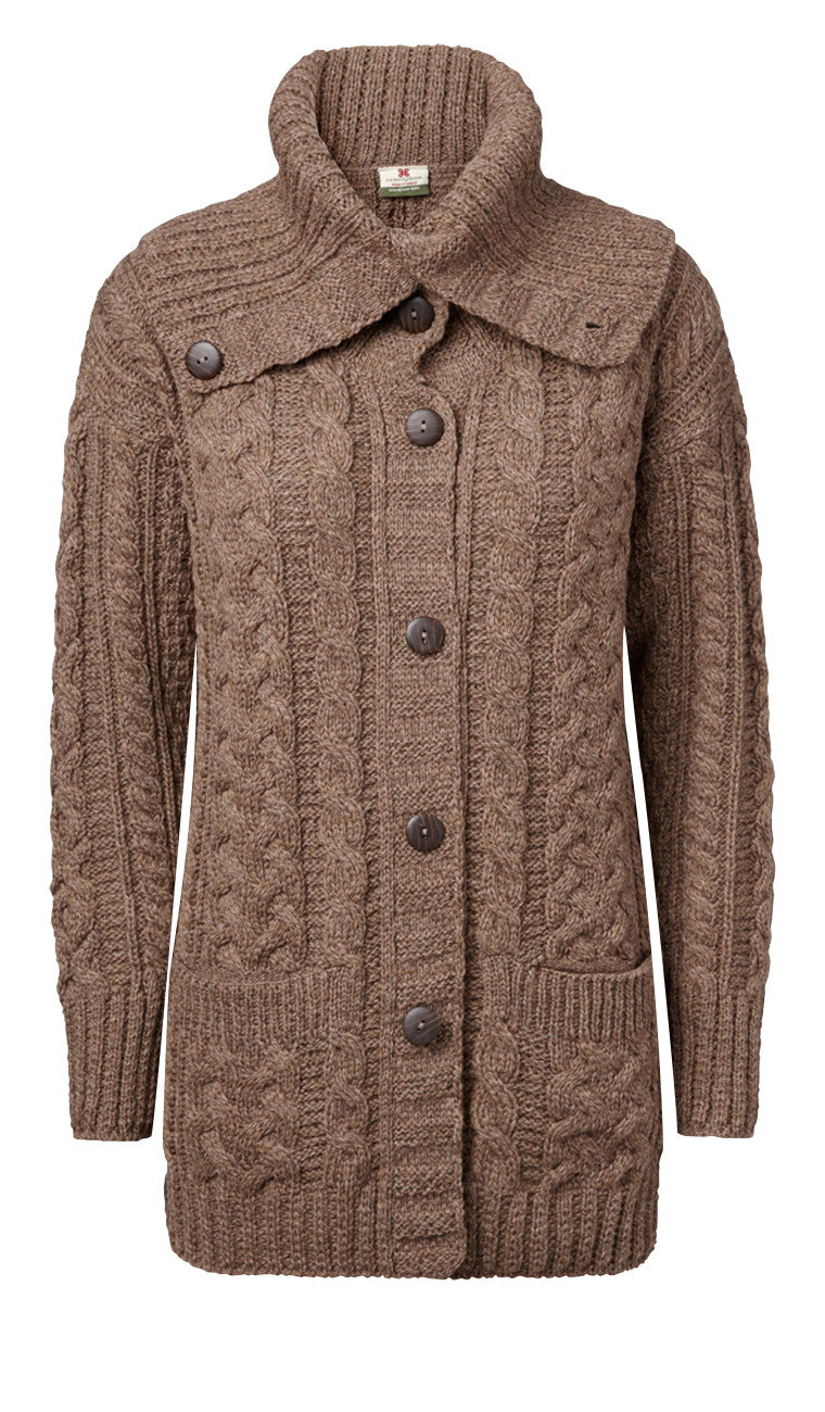 "Carraig Donn ""Steffany"" Ladies Cardigan, Merino Wool"