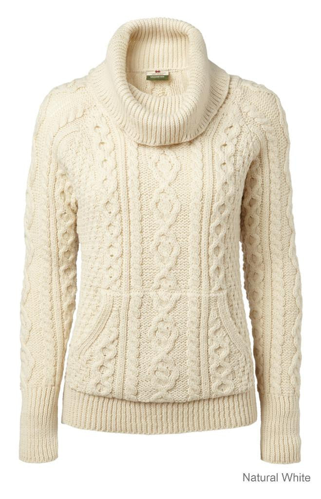 Carraig Donn Ladies Roll Neck Sweater, Merino