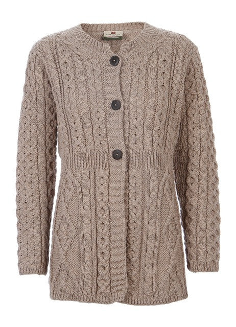 Copy of Carraig Donn Aran-Line Cardigan, Dame Merino.
