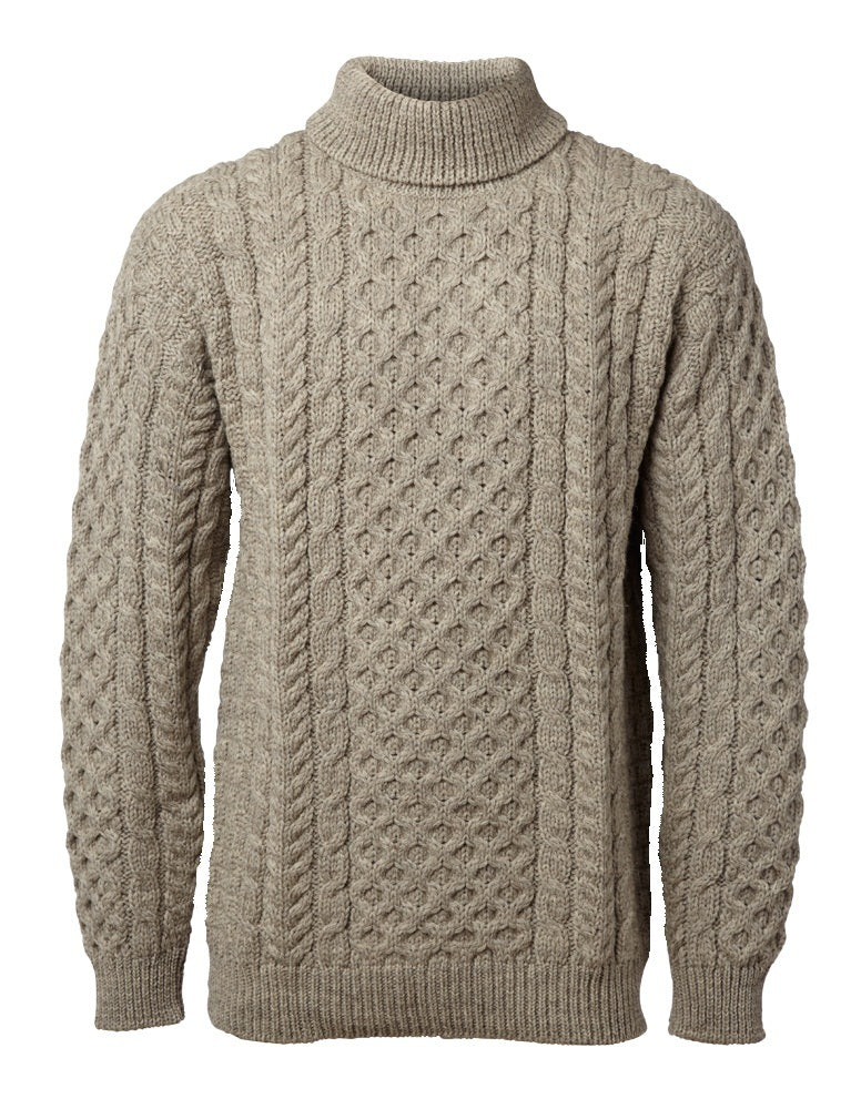 John Molloy Aran Fisherman Sweater Poloneck.