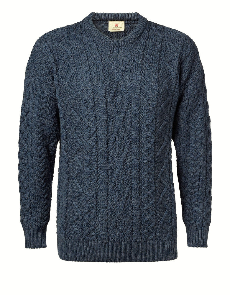 "Copy of Carraig Donn ""Aran Diamond City"" Design Sweater, Herre."
