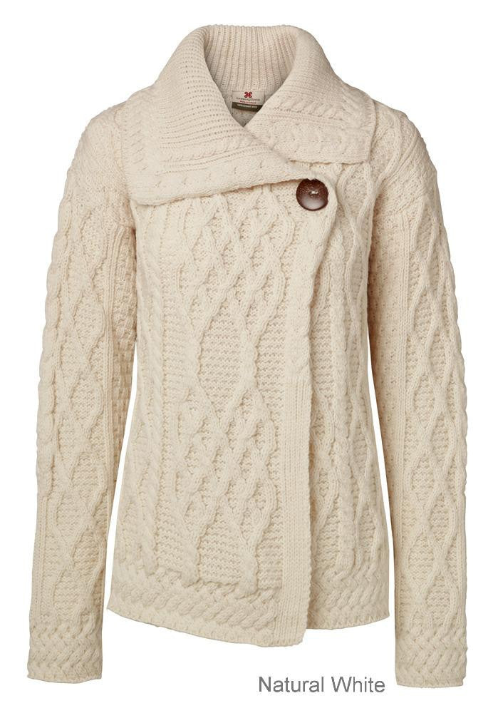 Carraig Donn Trellis Cardigan Ladies Merino
