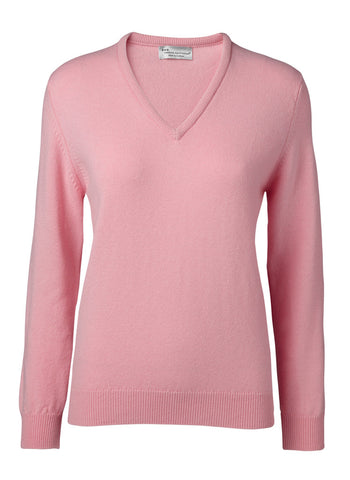 Hawick Knitwear  Ladies Luksus Sweater V/Hals.