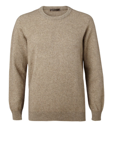 Noble Wilde  Mens Sweater, Cambridge Crew, Merino-Possum.
