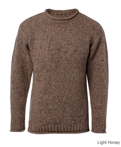 Carraig Donn Classic Donegal Roll Neck Sweater, Herre/Dame.