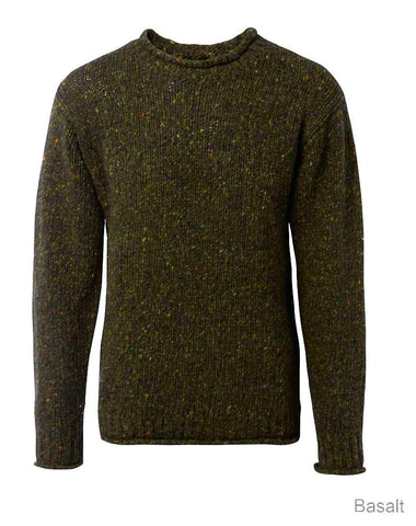 Carraig Donn Classic Donegal Roll Neck Sweater, Herre/Dame