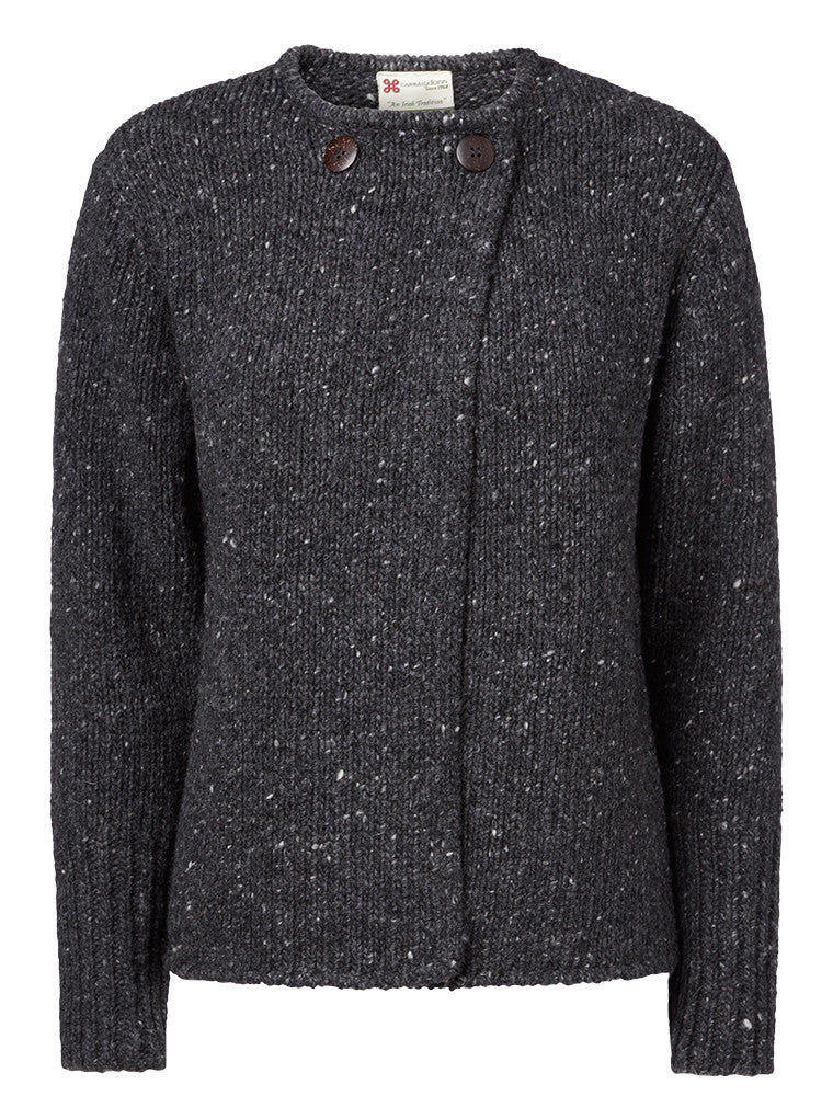 Carraig Donn Ladies Crossover Cardigan, Donegal Wool.