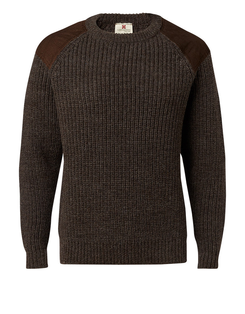 "Carraig Donn ""Hunter"" Sweater, Herre, Donegal Wool"