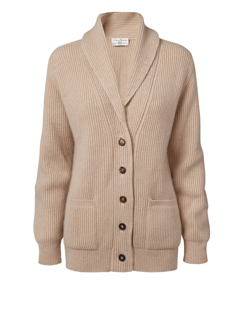 Scottish Tradition Ladies Luxury Cashmere Shawl Cardigan.