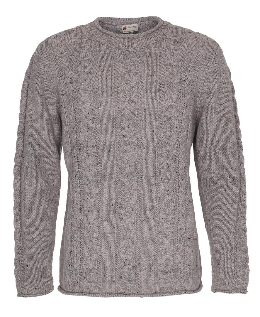 Roll Neck Cable Crew Carraig Donn Sweater Grey