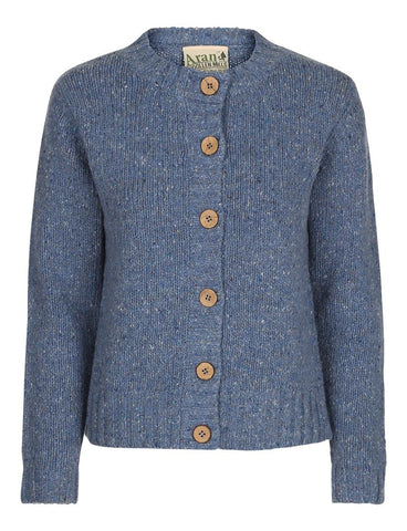 Ladies Cotton Silk Cardigan Carraig Donn Sky blue