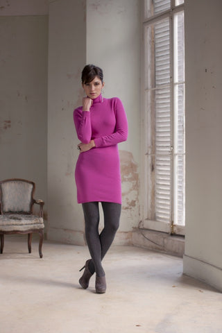 Hawick Knitwear Ladies Luxury Dress, Cashmere.