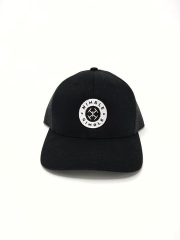 Nimble Gimble Black Retro Snapback Trucker Hat