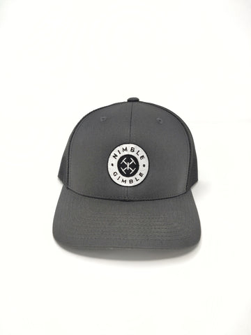 Nimble Gimble Gray Retro Snapback Trucker Hat