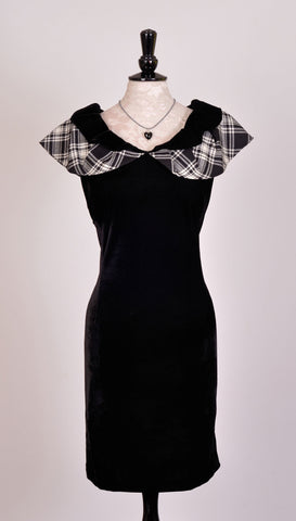 Catriona Dress in Menzies Black & White Tartan