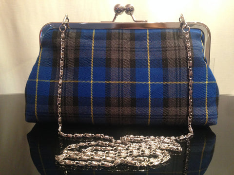 TARTAN TOUCH SILK PURSE CAMEL STEWART